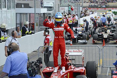 In Germania Alonso conquista la terza vittoria della stagione