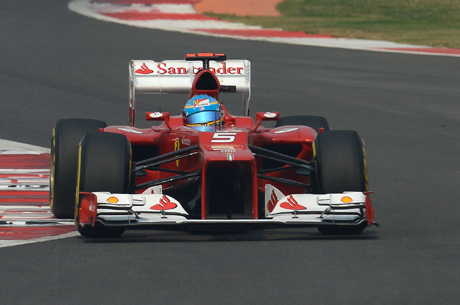 Fernando Alonso podio GP India 2012