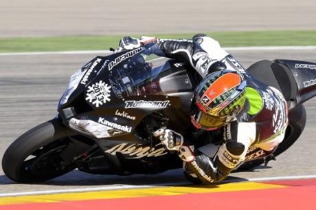 Tom Sykes prova ad Aragon