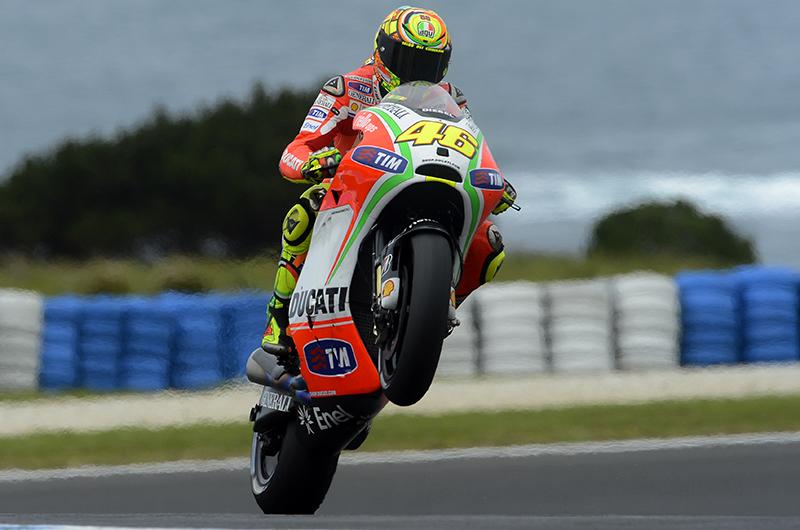 Terza fila di partenza per Valentino Rossi a Phillip Island