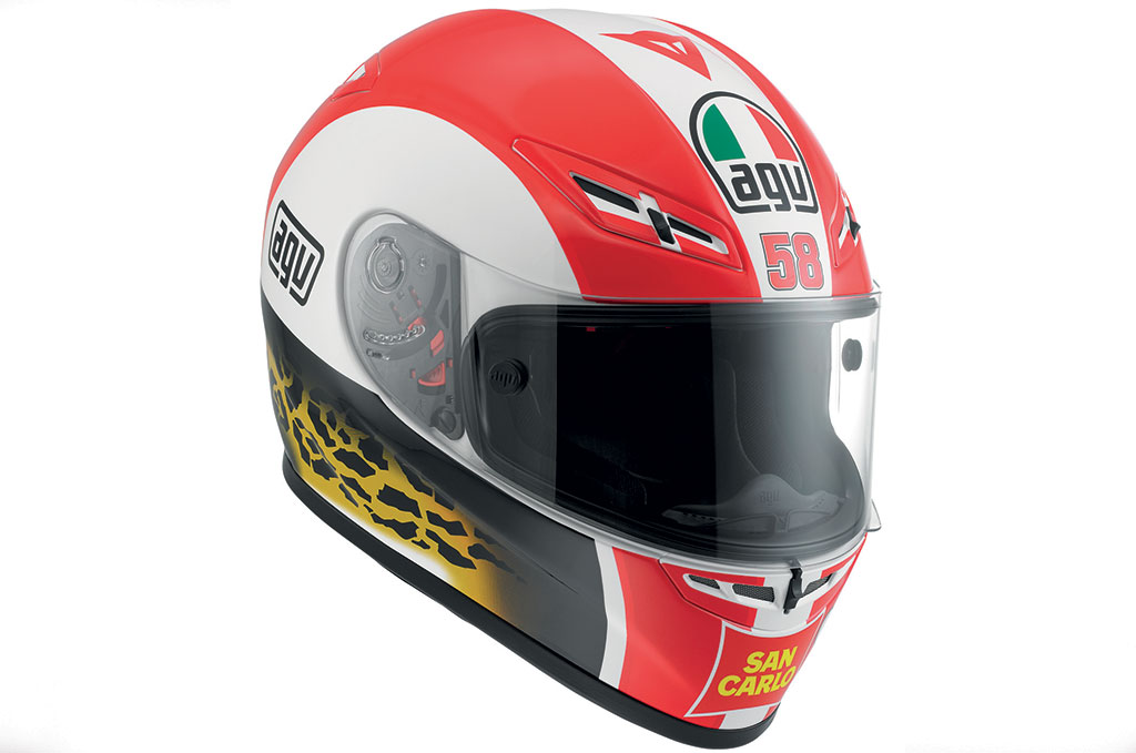Simoncelli tribute helmets