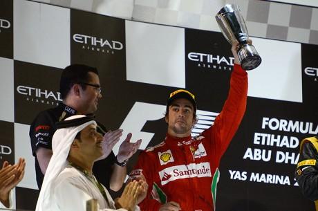 Ferrari F1 - Fernando Alonso podio Abu Dhabi