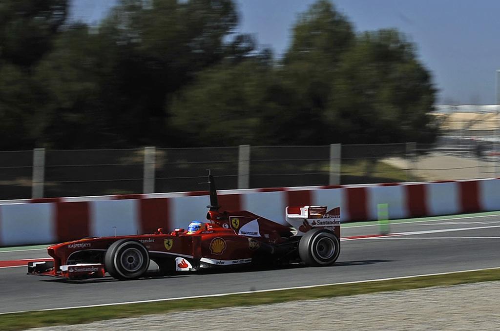 Fernando Alonso - Test Barcellona 2013