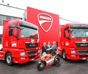 MAN trasporta le moto Ducati per la MotoGP