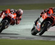Nicky Hayden ed Andrea Dovizioso - Qatar 2013