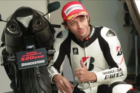 Spot Bridgestone con Valentino Rossi