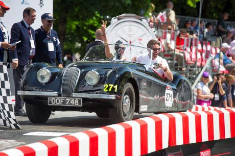 Jodie Kidd e David Blakeley - Jaguar Heritage Racing