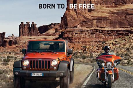 Jeep con Harley-Davidson