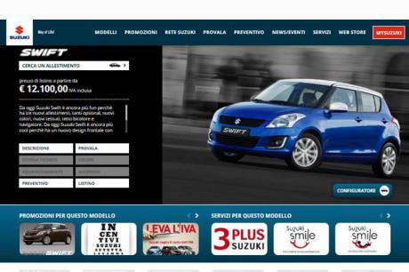 Nuovo sito Suzuki Italia Auto