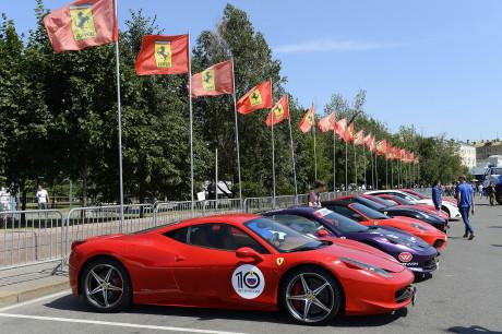 Ferrari protagonista a Mosca