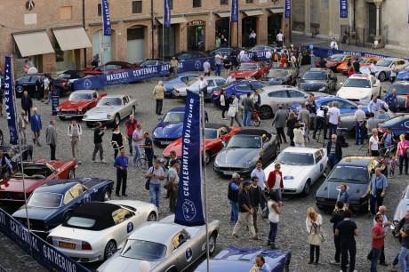 Maserati Centennial Gathering - Modena - Piazza Grande 18.09.2014