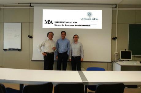 Master in Business Administration 2015 - Riccardo Paterni, Walter Sciacca, Giulio Greco ( Direttore MBA)