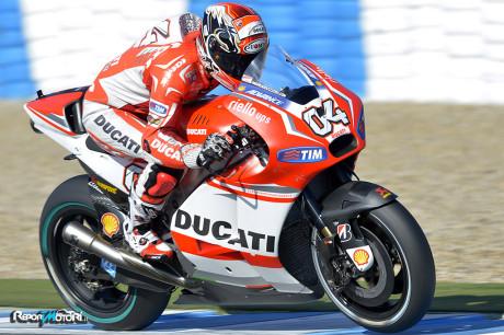 Andrea Dovizioso - Ducati Team - Test Jerez 2014