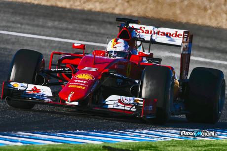 Primo di giorno di test per la Ferrari SF15-T