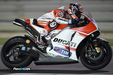 Andrea Dovizioso - Ducati Desmosedici GP15 - Test Qatar 2015
