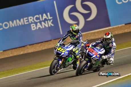 Lorenzo e Rossi lite in Qatar