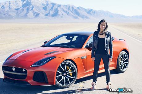 Michelle Rodriguez - Jaguar F-Type SVR