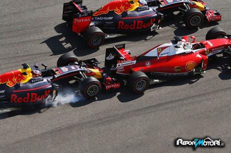 F1 Sochi - Incidente Kvyat e Vettel