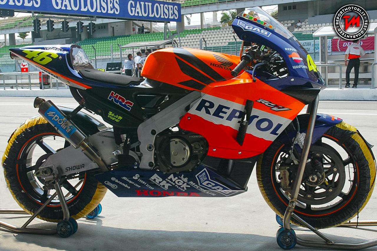 Honda RC211V la moto vincente di Valentino Rossi