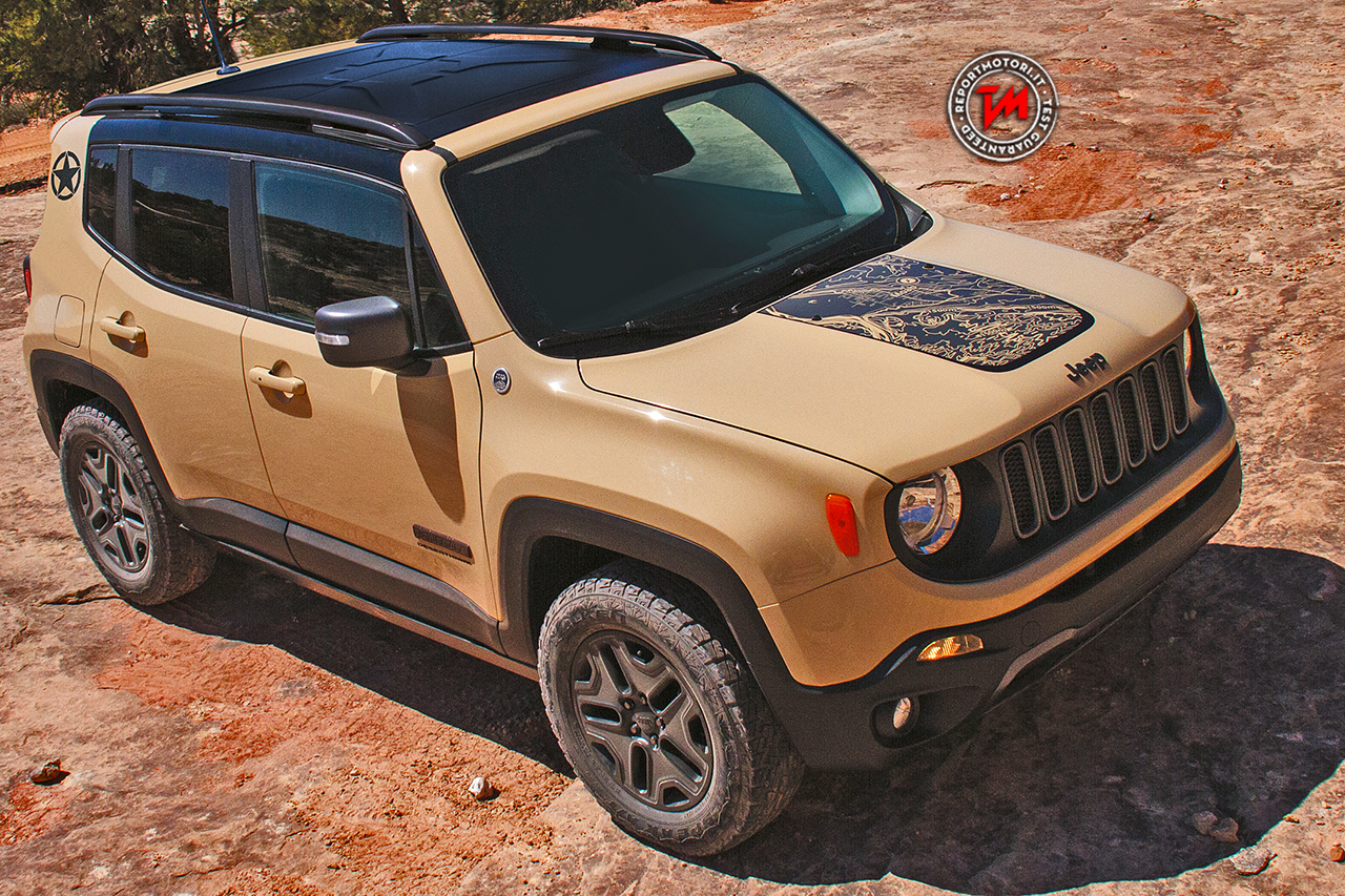 2016 jeep renegade deserthawk photos jeep renegade desert hawk a parigi la serie limitata. Black Bedroom Furniture Sets. Home Design Ideas