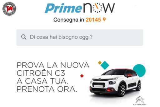 Amazon Prime Now - Test drive nuova Citroen C3