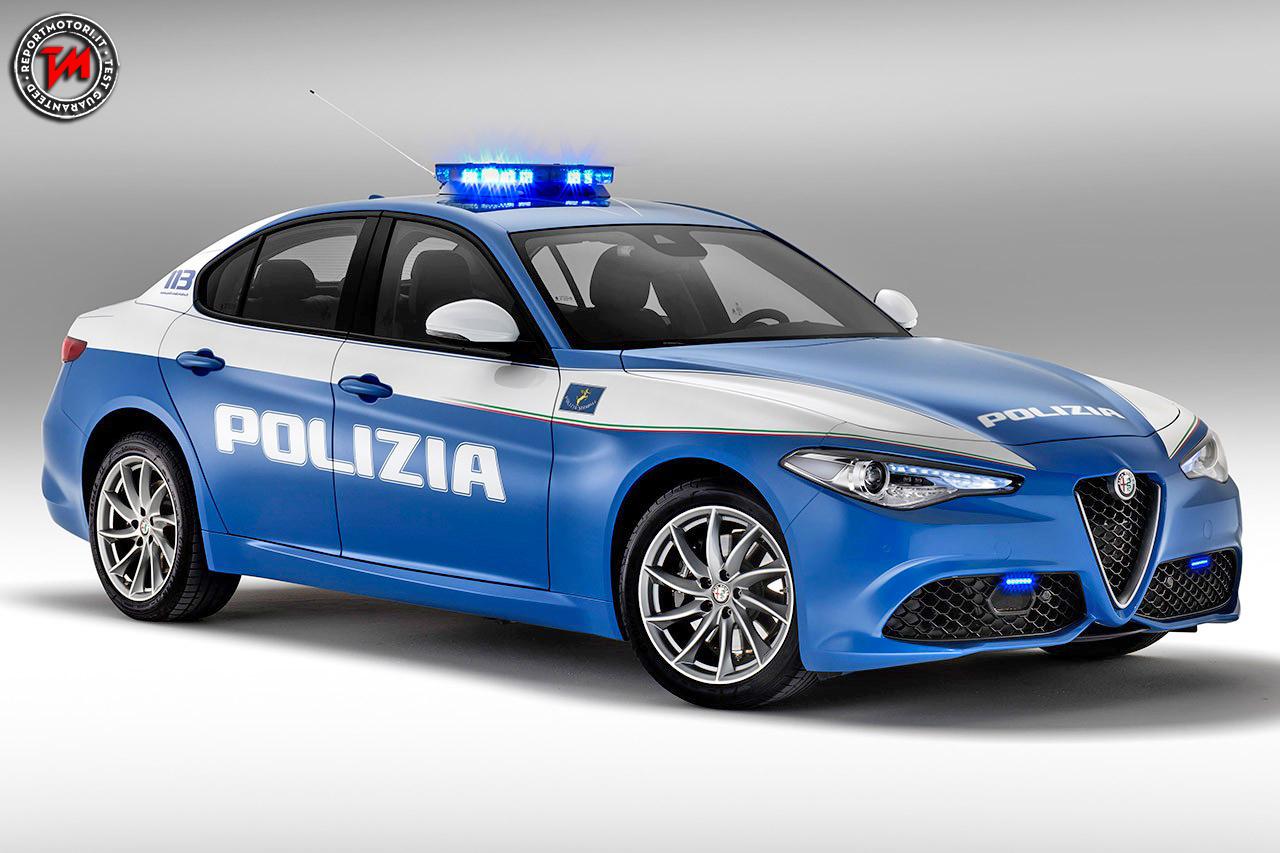 Alfa Romeo Giulia Polizia, ufficiale Foto e video