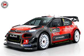 La Citroen C3 WRC pronta al debutto nel Campionato Mondiale Rally 2017