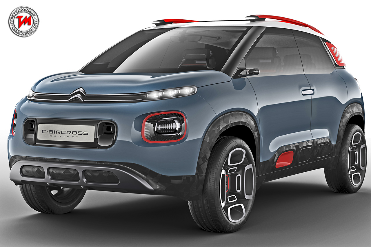 citroen c aircross concept un suv dalla forte personalit. Black Bedroom Furniture Sets. Home Design Ideas