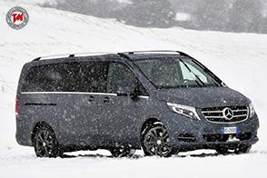 Vans attraction : sulla neve è spettacolo con le Mercedes Classe V, Sprinter e AMG