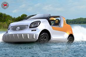 Concept forsea : la prima vettura anfibia nella storia di smart
