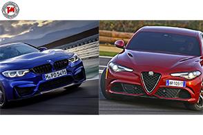 BMW M4 CS vs Alfa Romeo Giulia Quadrifoglio: al Nurburgring si apre la sfida!
