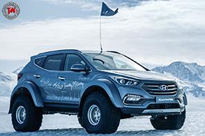 Una Hyundai Santa Fe attraversa l'Antartico compiendo un'avventura incredibile
