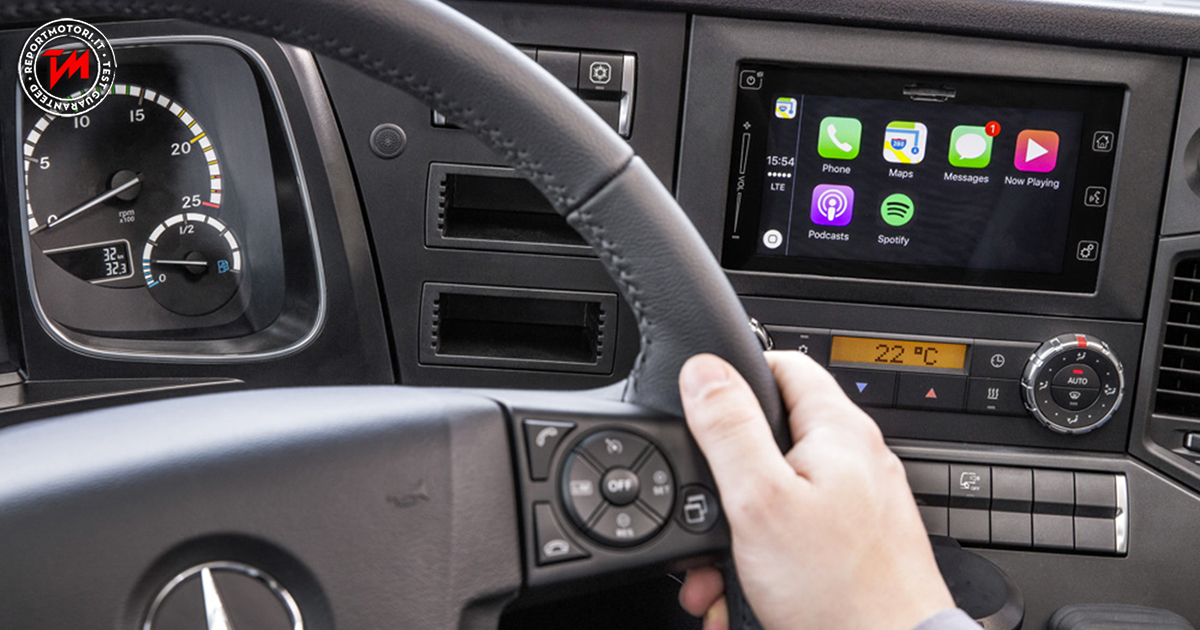 A bordo dei truck mercedes benz arriva ora l 39 apple carplay for Mercedes benz apple carplay