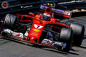 GP di Montecarlo, pole position per Kimi Raikkonen davanti a Vettel