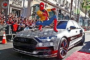 La nuova Audi A8 nel film Spider-Man: Homecoming