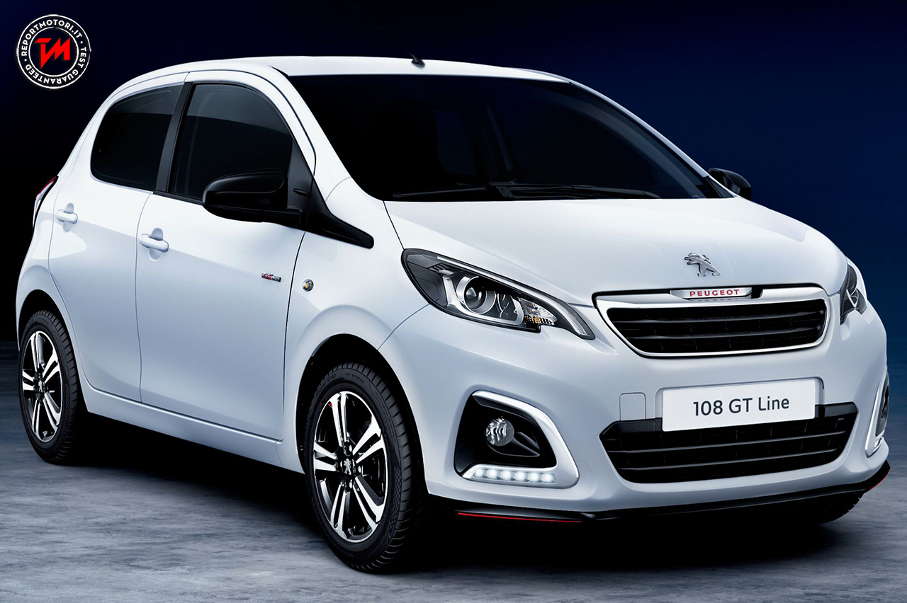 peugeot 108 gt line look sportivo per una city car agile e versatile. Black Bedroom Furniture Sets. Home Design Ideas