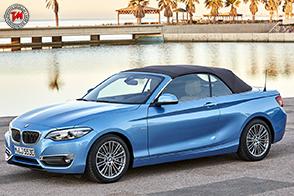 Sbalzi corti e cofano motore lungo per la nuova BMW Serie 2 Cabrio