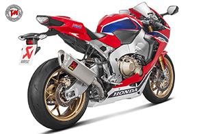 Sound da SBK per la Honda CBR1000RR con i completi Akrapovic