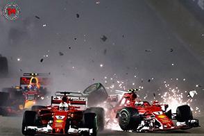 Al Gran Premio di Singapore, scontro tra le Ferrari