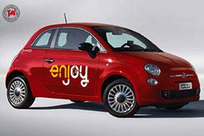 Enjoy atterra nell'aeroporto di Catania con la Fiat 500 Rossa