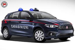 Cinquecento nuove Fiat Tipo per l'Arma dei Carabinieri