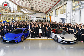 Raggiunte le 7.000 unità prodotte di Lamborghini Aventador