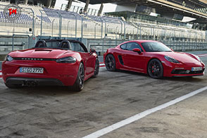 Nuove Porsche 718 Boxster GTS e 718 Cayman GTS