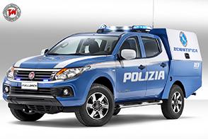 Fiat Professional Fullback in dotazione alla Polizia Scientifica