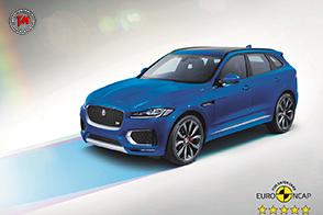 Nei test Euro NCAP Jaguar F-PACE raggiunge le cinque stelle