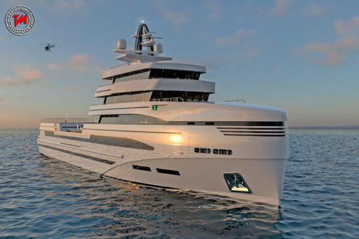 Rosetti Superyachts concept 85m expedition supply vessel