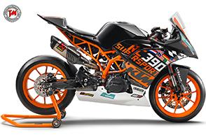 Nuova KTM RC 390 R con SSP300 Race Kit: una moto pronto corsa!