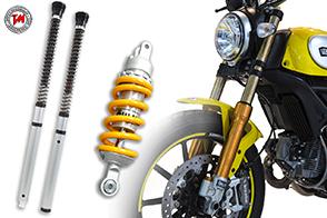 Forcelle Ohlins FG 434 e cartuccia NIX 30 per Ducati Scrambler