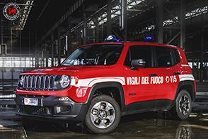 Consegnate 100 Jeep Renegade al Corpo Nazionale dei Vigili del Fuoco