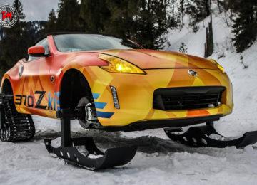Massimo divertimento sulla neve con la Nissan 370Zki